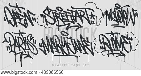 Flat Hand Written Abstract Hip Hop Urban Street Art Graffiti Style