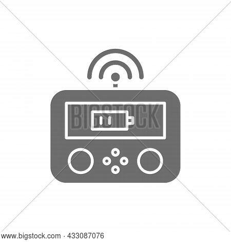 Remote Drone Controller, Gamepad, Control Panel Line Icon.