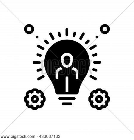 Black Solid Icon For Resource Ability Capability Reserve Source Support Funding Assets Organization
