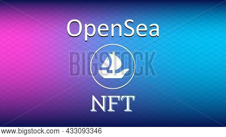 Opensea Internet Platform Nft Token Market And Auction. New Trend In Collectibles Sales. Banner For