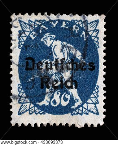 ZAGREB, CROATIA - JUNE 22, 2014: Stamp printed in printed in Bavaria with a