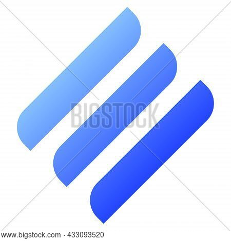 Linear Line Token Symbol Of The Defi Project Cryptocurrency Logo, Decentralized Finance Coin Icon Is
