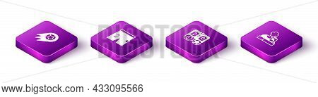 Set Isometric Soccer Football Ball, Shorts For Playing, Football Betting Money And Player Press Conf
