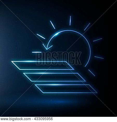 Solar panel icon renewable energy symbol