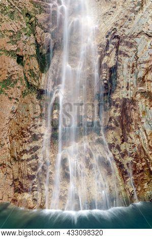 Sorrosal Waterfall In Broto, Huesca, Aragon Pyrenees, North Of Spain