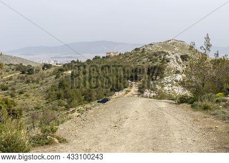View On Environmental Park Peramatos - Schistos In Athens District (greece) On A Overcast, Spring Da