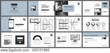 Presentation And Slide Layout Template. Design Blue Pastel Background. Use For Business Annual Repor