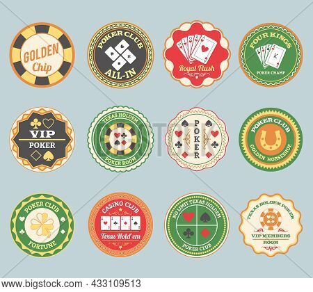 Casino Online Club Traditional Poker Retro Labels Collection For Members And International Players