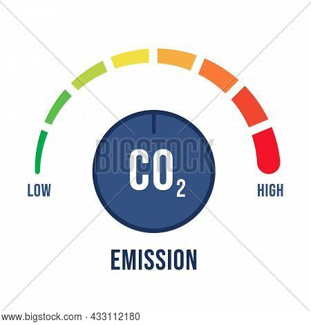 Reduction Low Co2 Emissions To Limit Global Warming, Climate Change And Safety Ecology. Reduce Level