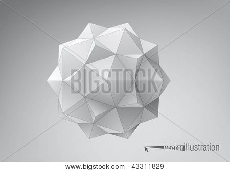 Dodecahedron-Icosahedron compound figure for your graphic design
