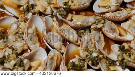 Chaozhou style steamed clam dish