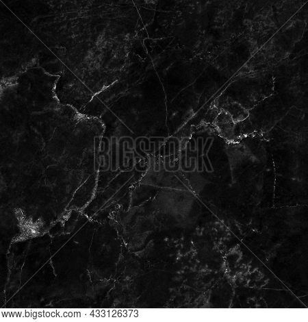 Black Gray Marble Texture Background With High Resolution, Counter Top View Of Natural Tiles Stone I