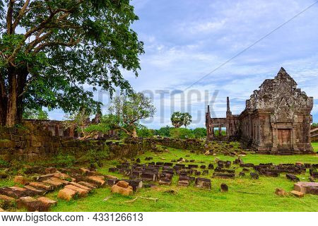 Vat Phou Or Wat Phu Is The Unesco World Heritage Site In Champasak Province, Southern Laos.