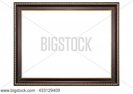 Brown Mockup Canvas Frame Isolated On White Background