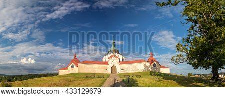 Zdar Nad Sazavou, Czech Republic - 07 15 2021: Pilgrimage Church Of Saint John Of Nepomuk At Zelena