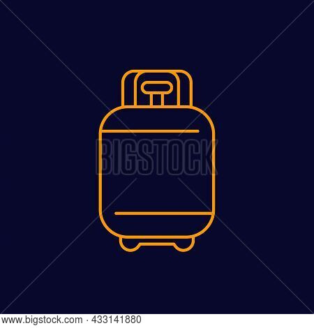 Propane Gas Tank Line Icon, Vector Sign