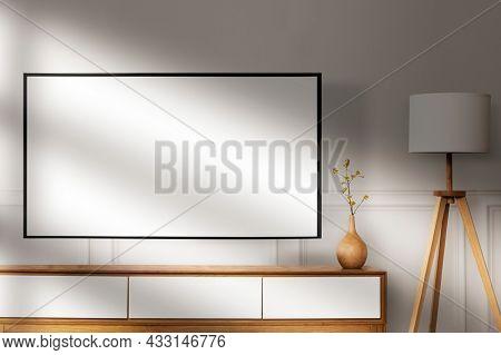 TV in Japandi living room