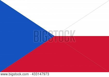 Czech Republic National Flag In Central Europe