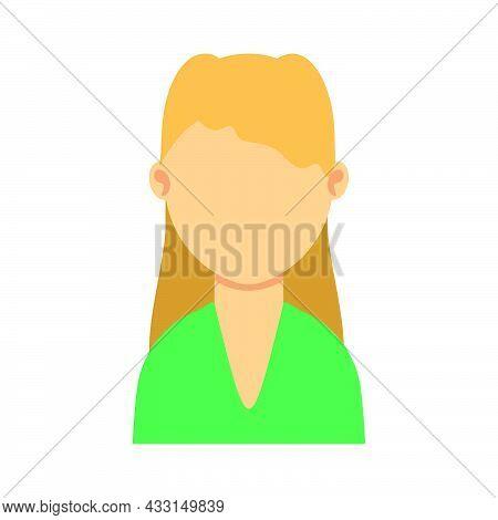 Woman Avatar Person Female Vector Illustration Icon Character. Face Portrait Woman Avatar Cartoon Gi