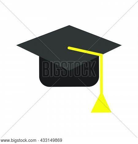 University Education Hat Vector Graduation Illustration Student. School University Hat Icon Academic