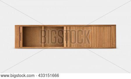 Mid century cupboard wooden furniture