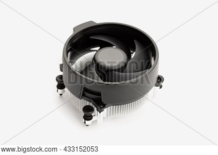 Generic Computer Cpu Cooler Isolated On White Background