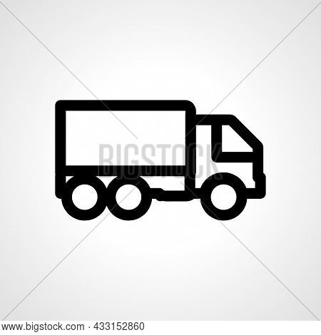 Truck Vector Line Icon. Truck Linear Outline Icon.