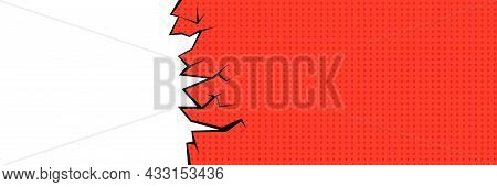 Pop Art-style Speech Bubble. Background For The Text In The Style Of Comics. Flat Design
