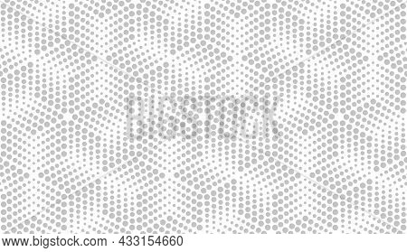 Abstract Geometric Pattern With Points. A Seamless Background. White And Grey Ornament. Graphic Mode