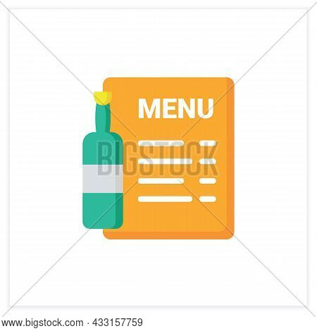 Bar Menu Flat Icon. Brochure, Flyer, List. Alcohol, Restaurant, Night Club, Bar Menu. Cocktail Party