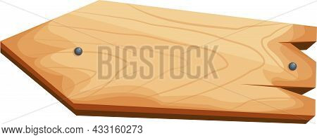 A Set Of Wooden Poles, Signs, Insulated Guide Signs Made Of Wood.
