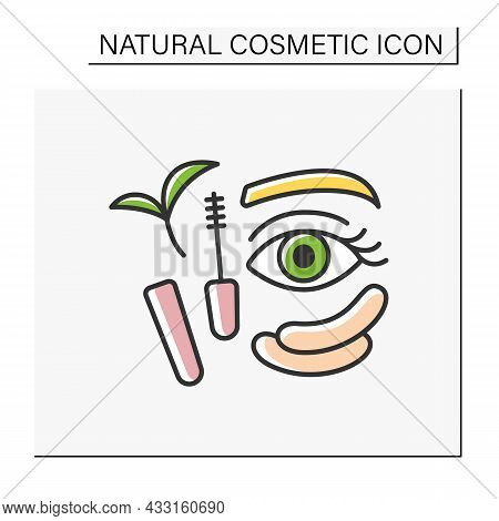 Beauty Procedure Color Icon. Organic Mascara For Lash Care. Patches From Black Circles. Natural Cosm