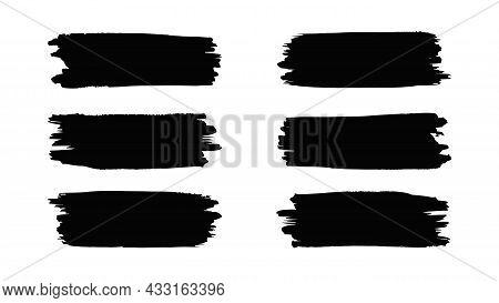 Brush Stroke Set, Watercolor Grunge Texture, Ink Brush Stroke, Vector Illustration