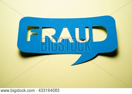 Fraud Investigation And Audit Inspection Speech Bubble Note