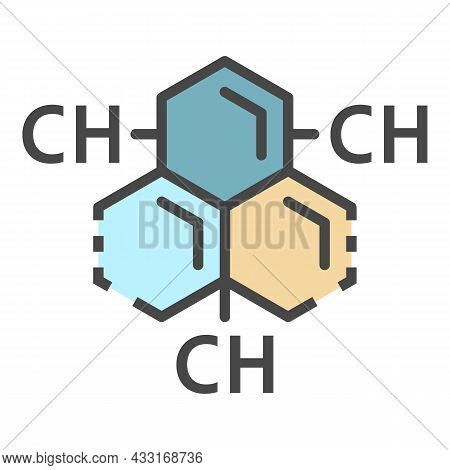 Carbon Hydrogen Substance Icon. Outline Carbon Hydrogen Substance Vector Icon Color Flat Isolated On