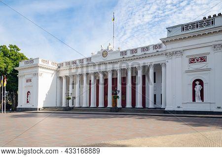 Odessa, Ukraine, September 24, 2019: The Building Of The Odessa City Council.