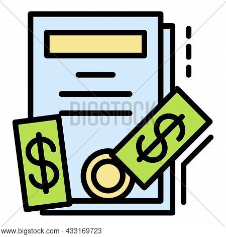 Bribery Icon. Outline Bribery Vector Icon Color Flat Isolated On White
