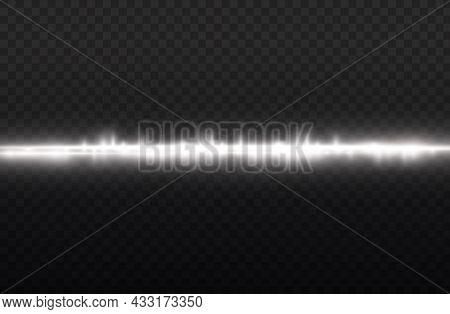 Horizontal Light Rays, Flash White Horizontal Line