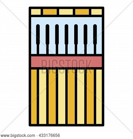 Welder Stick Icon. Outline Welder Stick Vector Icon Color Flat Isolated On White