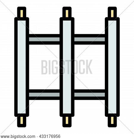Scaffold Construction Icon. Outline Illustration Of Scaffold Construction Vector Icon Color Flat Iso