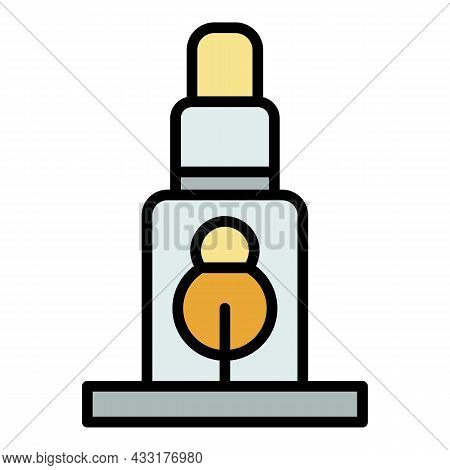 Scaffold Support Icon. Outline Illustration Of Scaffold Support Vector Icon Color Flat Isolated On W