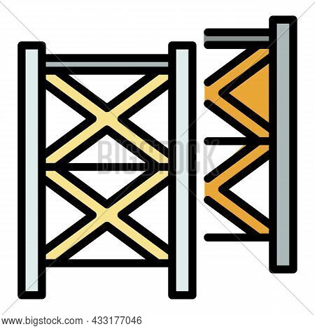 Scaffolding Equipment Icon. Outline Illustration Of Scaffolding Equipment Vector Icon Color Flat Iso