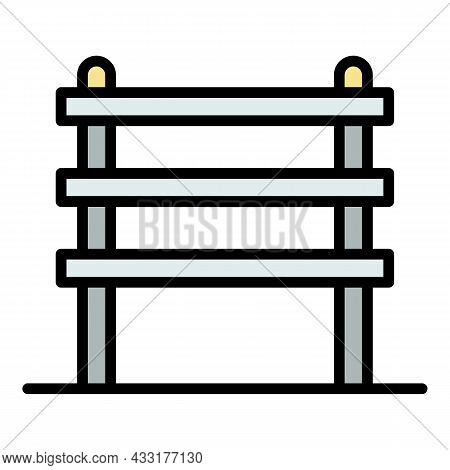 Construction Scaffold Icon. Outline Illustration Of Construction Scaffold Vector Icon Color Flat Iso