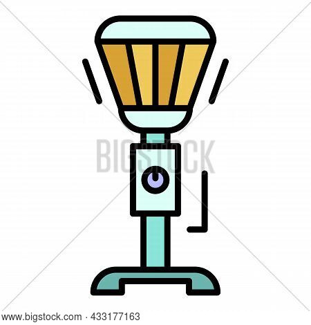 Stand Heater Icon. Outline Stand Heater Vector Icon Color Flat Isolated On White