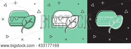 Set Vegan Food Diet Icon Isolated Set Background. Organic, Bio, Eco Symbol. Vegan, No Meat, Lactose