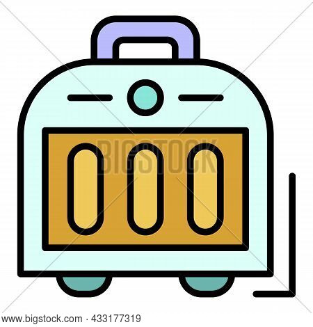 Ceramic Heater Icon. Outline Ceramic Heater Vector Icon Color Flat Isolated On White