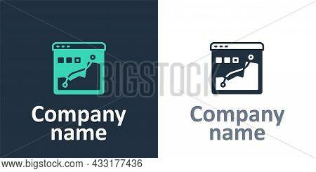 Logotype Histogram Graph Photography Icon Isolated On White Background. Logo Design Template Element