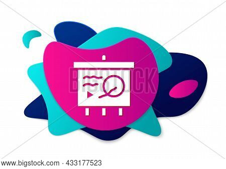 Color Scenario On Chalkboard Icon Isolated On White Background. Script Reading Concept For Art Proje
