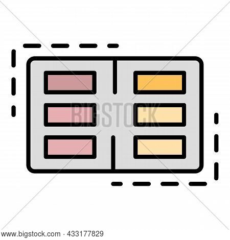 Bowling Score Table Icon. Outline Bowling Score Table Vector Icon Color Flat Isolated On White