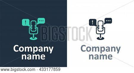 Logotype Freedom Of Speech Icon Isolated On White Background. Freedom Of Expression. Logo Design Tem